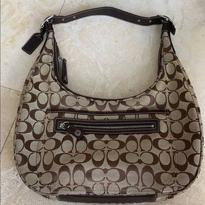 Coach Bags - Vintage Coach Signature Canvas hobo shoulder bag